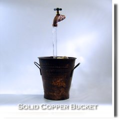 Old Solid Copper Peened Bucket Fountain