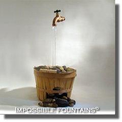 Wicker Basket Impossible Fountain