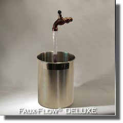 Stainless Cylinder Faux-Flow DELUXE Fountain