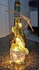 Lighted Wine and Liquor Bottles