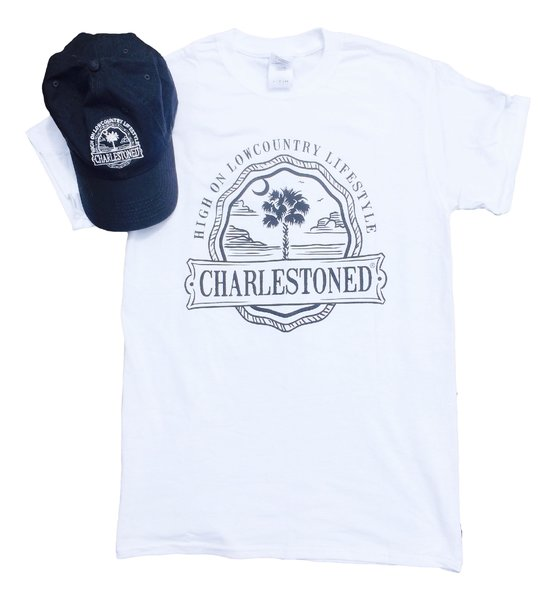 Navy/White Hat and Tee Combo
