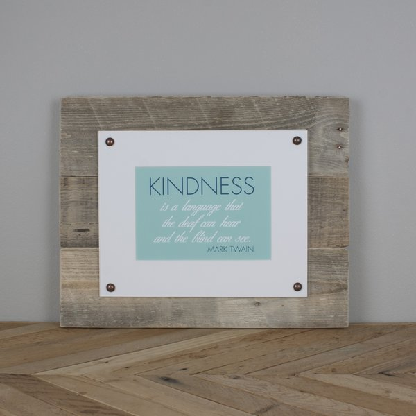 kindness plexiglass plaque oh hello deer. Black Bedroom Furniture Sets. Home Design Ideas