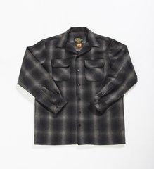FB County Men's Super Heavyweight Wool Blend Long Sleeve Shirt Black/Grey