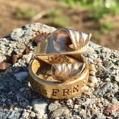 Wave After Wave Ring in Solid Bronze