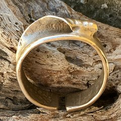 Secret Spot wave ring in bronze (Large)