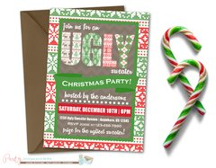 Ugly Sweater Invitation, Ugly Sweater Christmas Party Invitation, Christmas Party Invitation, Ugly Sweater Invite, Ugly Sweater Party Invite