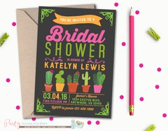 Bridal Shower Invitation, Cactus Bridal Shower Invitation, Cactus Invitation, Fiesta Bridal Shower Invitation, Cactus