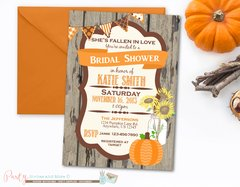 Fall Bridal Shower Invitation, Fall Wedding Shower Invitation, Pumpkin Bridal Shower Invitation, Sunflower Bridal Shower Invitation