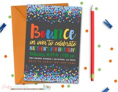 Jump Birthday Invitation, Bounce Birthday Invitation, Bounce House, Jump Invitation, Bounce Invitation, Trampoline Birthday Invitation