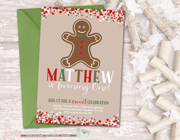 Gingerbread invitation gingerbread birthday invitation party gingerbread invitation gingerbread birthday invitation winter birthday invitation christmas birthday invitation gingerbread man party filmwisefo Images