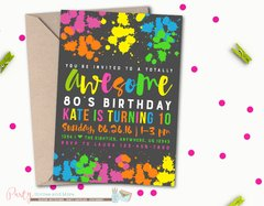 80's Birthday Invitation