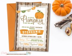 Pumpkin Baby Shower Invitation, Fall Baby Shower, Rustic Baby Shower, Baby Shower Invitation, Wood Baby Shower Invitation, Pumpkins, Fall