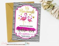 Flamingo Baby Shower Invitation, Flamingo Invitation, Flamingo Baby Shower, Flamingle Invitation, Pool Party Baby Shower, Flamingos