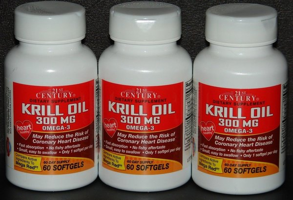 21st century krill oil 300mg softgels 60ct compare to for Mega red fish oil