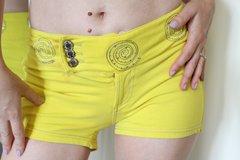 Yellow Daisy Duke Shorts