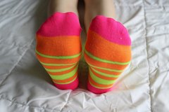 Bright Colored Well Worn Socks