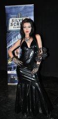 Dress worn in television ( Black pvc )