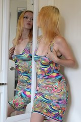 Multi-Colored Rainbow Dress - Size S/M