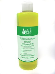 Wallpaper Removal Solution #603 (8) 16 ounce bottles (equals 1 gallon). Save $5.00. Fits in (1) U.S.P.S medium flat rate shipping carton. Plus $13.90 (our cost) shipping cost to any U.S. City exept Alaska in 2-3 days.