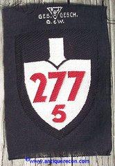 WW II GERMAN RAD GROUP 277 5th DETACHMENT ARM PATCH