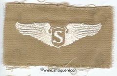 WW II US ARMY CLOTH SERVICE PILOT WING - KHAKI