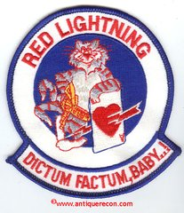 US NAVY VF-194 RED LIGHTNING DICTUM FACTUM, BABY! PATCH