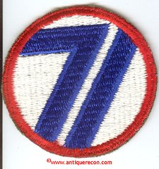 US ARMY 71st INFANTRY DIVISION PATCH