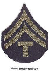 WW II US ARMY TECH 5th GRADE RANK STRIPES - FELT