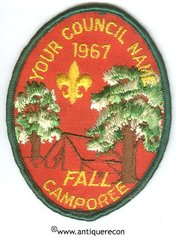 BSA FALL CAMPOREE 1967 SALESMAN'S SAMPLE PATCH