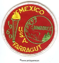 BSA MEXICO U.S.A FARRAGUT JAMBOREE 1969 PATCH