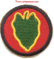 WW II US ARMY 24th INFANTRY DIVISION PATCH