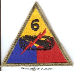 US ARMY 6th ARMORED DIVISION PATCH