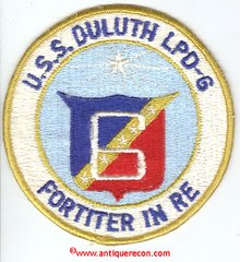US NAVY USS DULUTH LPD-6 SHIPS PATCH