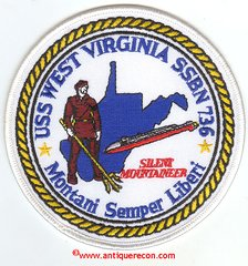 USS WEST VIRGINIA SSBN-736 PATCH