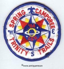 BSA SPRING CAMPOREE TRINITY TRAILS 1984 PATCH