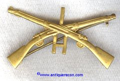 US ARMY 1st INFANTRY CO H OFFICER COLLAR INSIGNIA - 1905-17 PATTERN