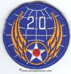 WW II US ARMY 20tH AIR FORCE PATCH