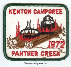 BSA KENTON CAMPOREE PANTHER CREEK 1972 PATCH