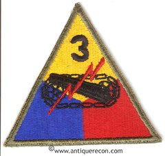 US ARMY 3rd ARMORED DIVISION PATCH