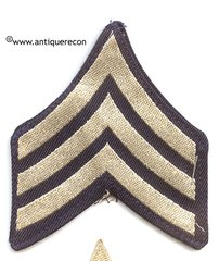WW II US ARMY SARGENT STRIPES - FLAT WOVEN