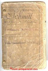 1883-98 FRENCH SERVICE RECORD - INFANTRYMAN - SCHMITT