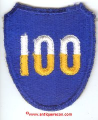 WW II US ARMY 100th INFANTRY DIVISION PATCH