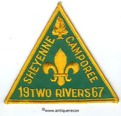 BSA SHEYENNE CAMPOREE 1967 TWO RIVERS COUNCIL PATCH