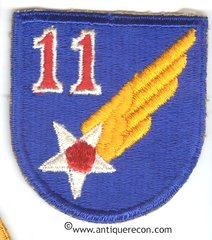 WW II US ARMY 11th AIR FORCE PATCH