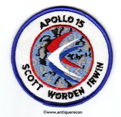 NASA APOLLO 15 MISSION PATCH - SMALL