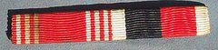 WW II US ARMY GOOD CONDUCT AND ARMY OF OCCUPATION RIBBON BAR - SEW ON STYLE