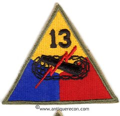 US ARMY 13th ARMORED DIVISION PATCH