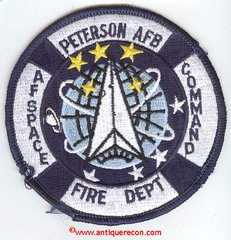 NASA PETERSON AFB AIR FORCE SPACE COMMAND FIRE DEPARTMENT PATCH
