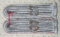 WW II GERMAN ARMY 37th ARTILLERY LIEUTENANT SEW IN SHOULDER BOARDS