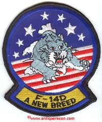 US NAVY F-14D A NEW BREED SUPER TOMCAT PATCH